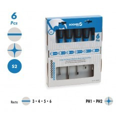 Juego de 6 destornilladores Industrial Plus R-PH DOGHER TOOLS