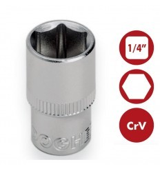 "Llaves de vaso hexagonal 1/4"" CrV DOGHER TOOLS"