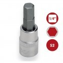"Llaves de vaso 1/4"" con punta Hexagonal S2 DOGHER TOOLS"