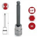 "Llaves de vaso 3/8"" punta hexagonal serie larga S2 DOGHER TOOLS"