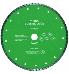 Disco de diamante turbo construcción