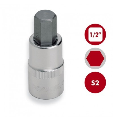 "Llaves de vaso 1/2"" punta Hexagonal S2 DOGHER TOOLS"