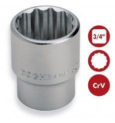 "Llaves de vaso BiHexagonales 3/4"" CrV DOGHER TOOLS"