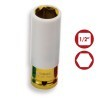 "Vaso de impacto 1/2"" Hexagonal color amarillo 19 mm CrMo DOGHER TOOLS"