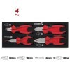 Base cuatro alicates profesionales CrV 62 HRc 1/4 DOGHER TOOLS