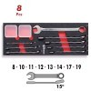 Base 8 llaves combinadas de 8 a 19 mm CrV 1/4 DOGHER TOOLS
