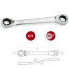 Base 6 llaves carraca reversible acodada 15º CrV 1/3 DOGUER TOOLS