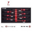 Base 7 destornilladores Boca Recta y PH CrM Profesional 1/3 DOGHER TOOLS