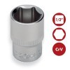 "Base 43 pzs Vasos 1/4 y 1/2"" Hexagonales Carraca y accesorios CrV DOGUER TOOLS"