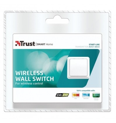 Interruptor inalambrico individual de pared AWST-8800 COCO by TRUST