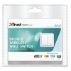 Interruptor inalambrico doble de pared AWST-8802 COCO by TRUST