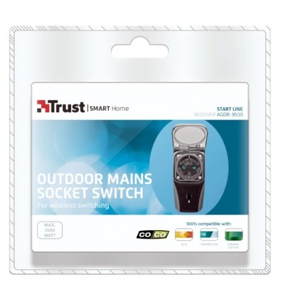 Enchufe interruptor domótico exteriores 3500 W AGDR-3500 COCO by TRUST