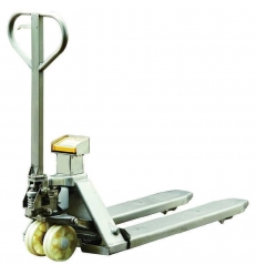 Transpaleta manual Inoxidable 2000 Kg con pesaje escala AY-2000-INOX 316TE AYERBE