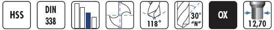 Características de las brocas HSS con mango reducido BC9 BLUE MASTER