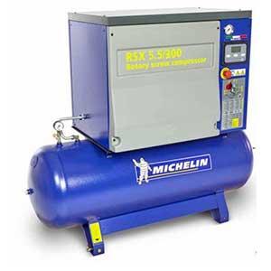 Compresores de tornillo con depósito y secador