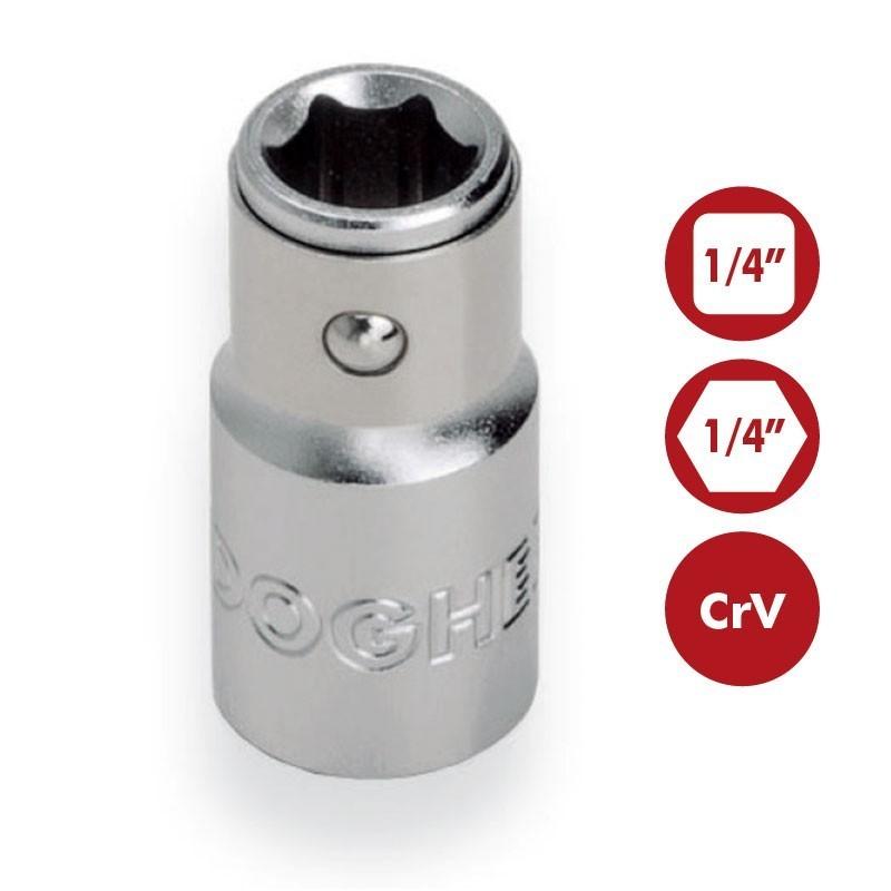 "Portapuntas 1/4"" CrV para puntas de atornillar 1/4"" DOGHER TOOLS"