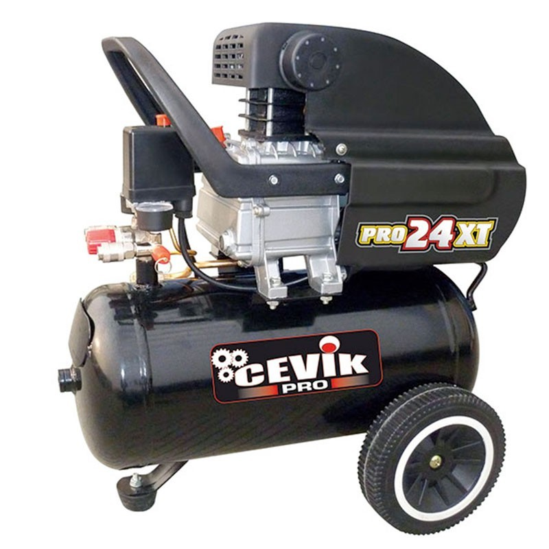 Compresor 2,5 HP 24 litros de transmisión directa PRO24XT CEVIK