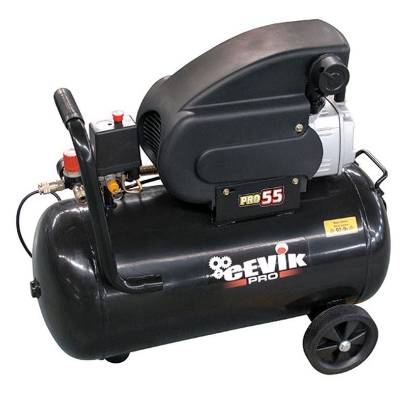 Compresor 2HP 50 litros de transmisión directa PRO55 CEVIK
