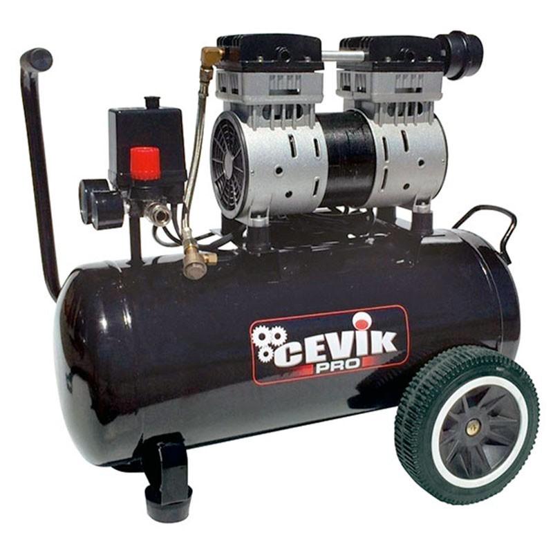 Compresor silencioso 1,5 HP 24 litros con 62 dB PRO24SILENC CEVIK