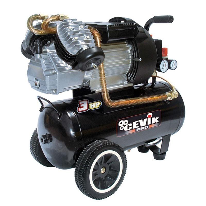 Compresor 3 HP 25 litros de transmisión directa PRO25VX CEVIK