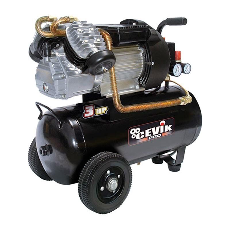 Compresor 3 HP 50 litros de transmisión directa PRO50VX CEVIK