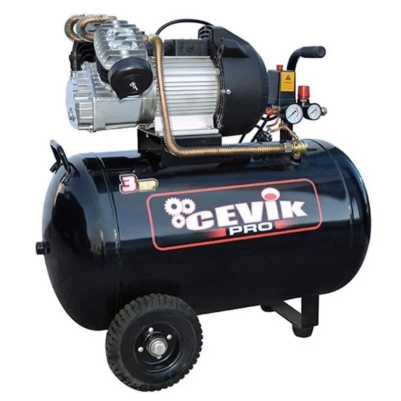 Compresor 3 HP 100 litros de transmisión directa PRO100VX CEVIK