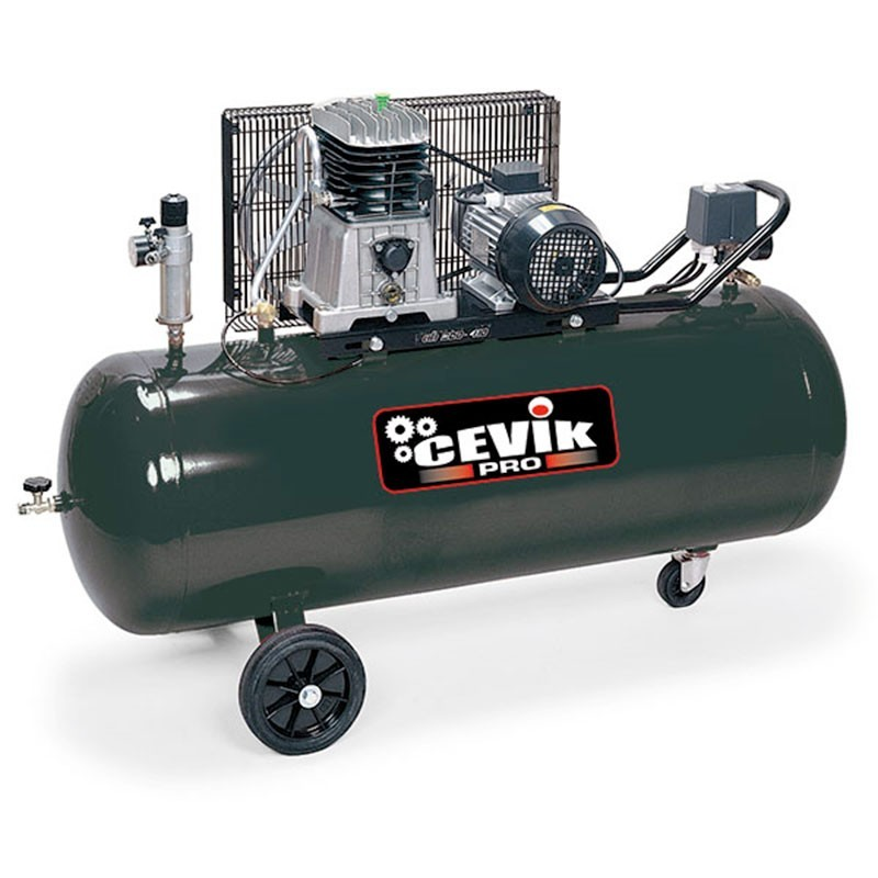 Compresor 3 HP 200 litros de transmisión correas AB200/3M FIAC