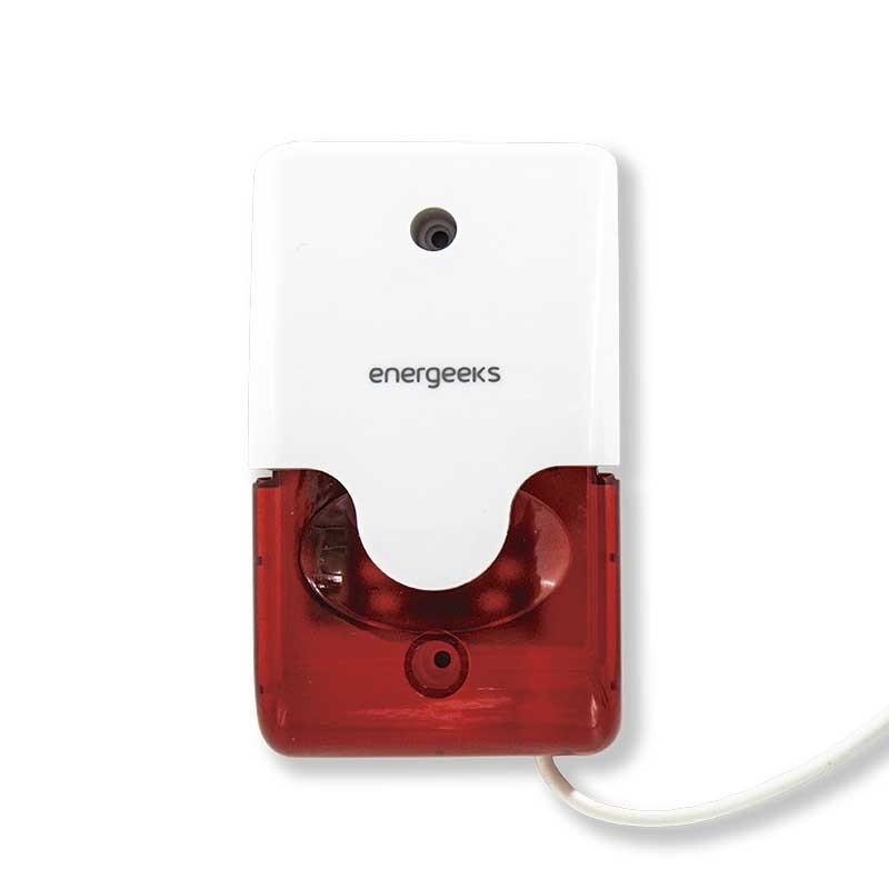 Sirena estroboscópica adicional compatible con la alarma wifi Energeeks AW001/PLUS