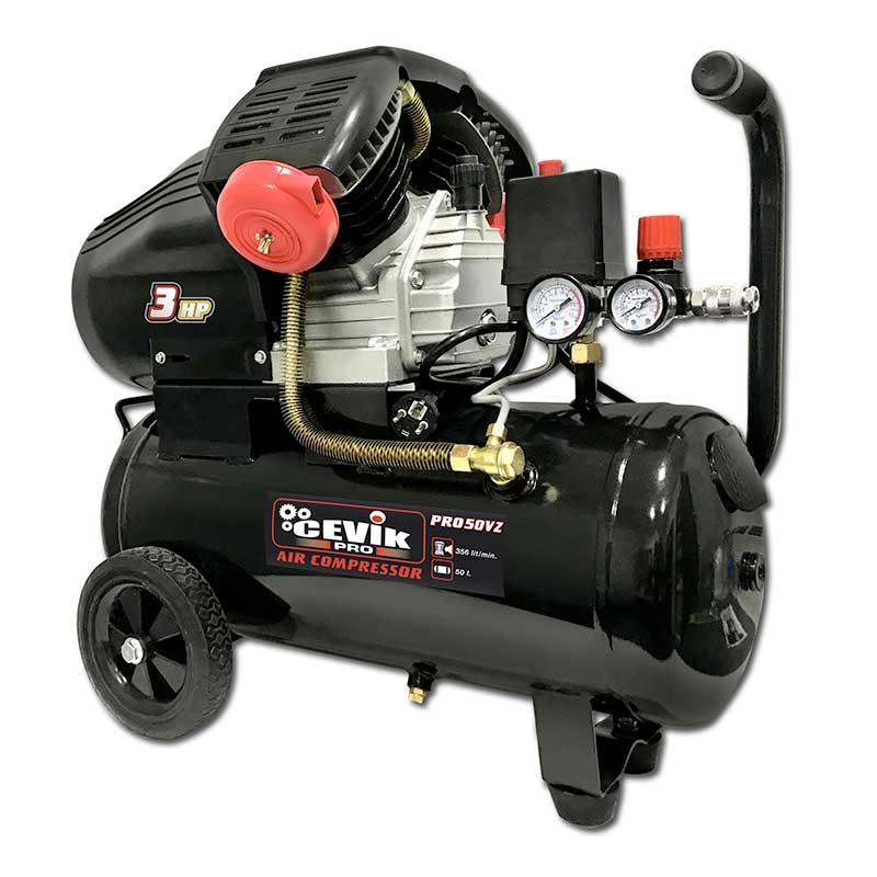 Compresor 3 HP 50 litros de transmisión directa PRO50VZ CEVIK