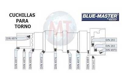 Cuchillas torno HSS-CO y cuchillas con placas MD BM